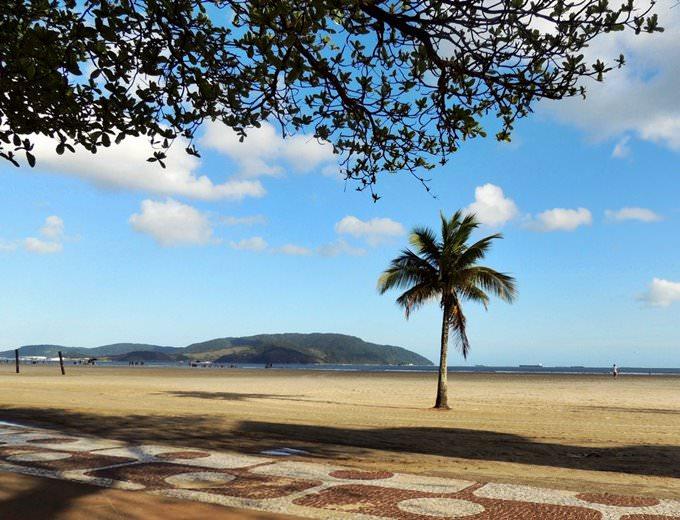 Sunny beach view,