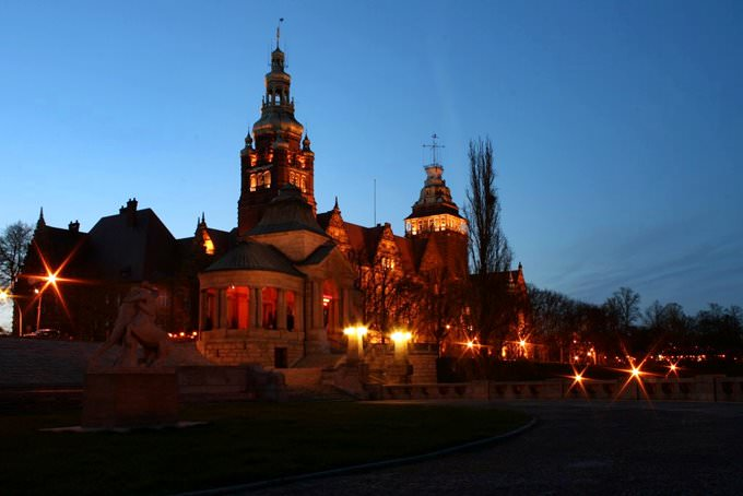 Szczecin, Wały Chrobrego at Night