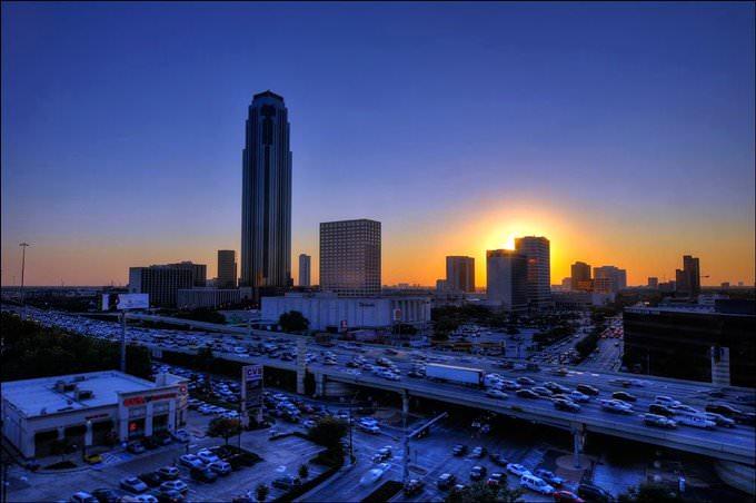 Evening View from Hotel Derek - Houston - Texas