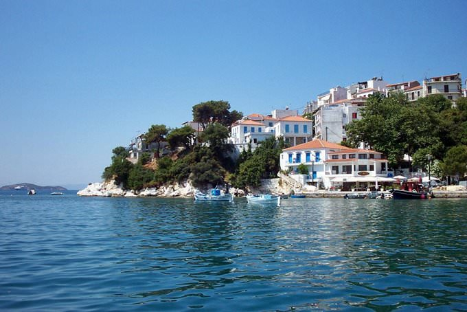 Skiathos harbour