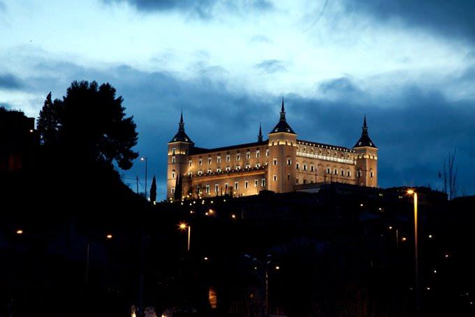 Alcazar of Toledo at Night