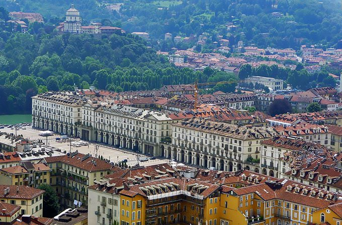 Piazza Vittorio (Torino) seen from the Mole Antonelliana