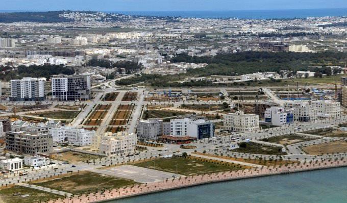 Vue aérienne du Lac 2 à Tunis