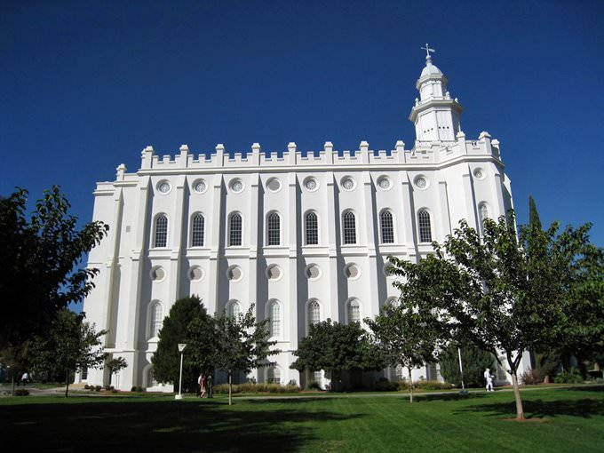 Saint George Utah Temple Side View