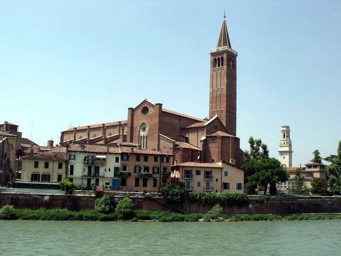 Santa Anastasia Church, Verona - from the River Adige