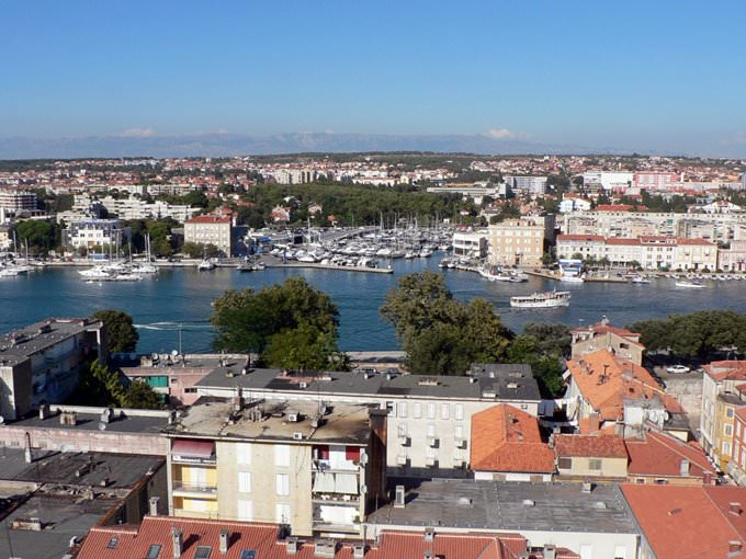 View over Zadar from the Cathedral Tower